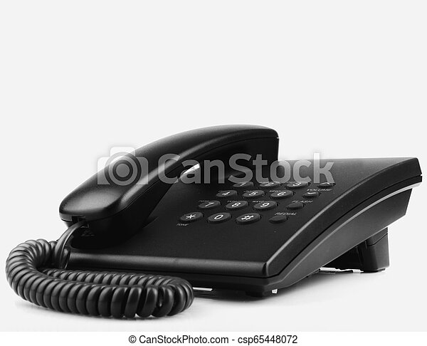 Telephone Isolated On White Background - csp65448072