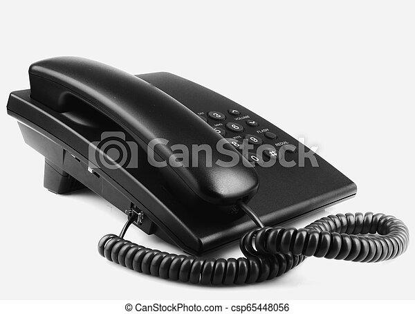 Telephone Isolated On White Background - csp65448056