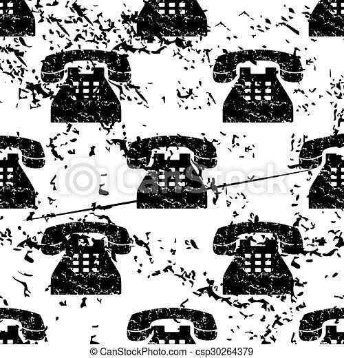 Telephone pattern, grunge, monochrome - csp30264379
