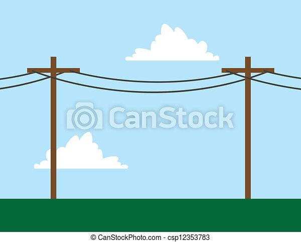 Telephone Poles  - csp12353783