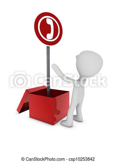 telephone sign in box - csp10253842