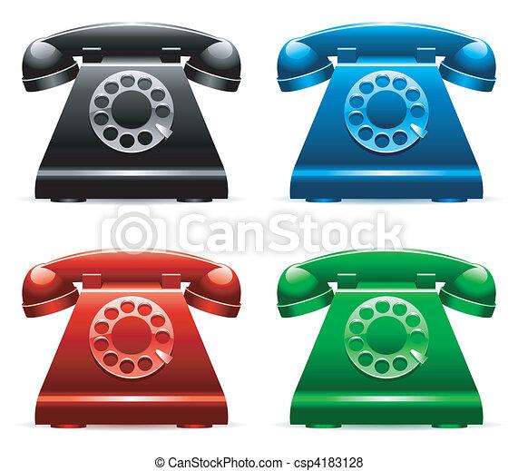 telephones., レトロ - csp4183128