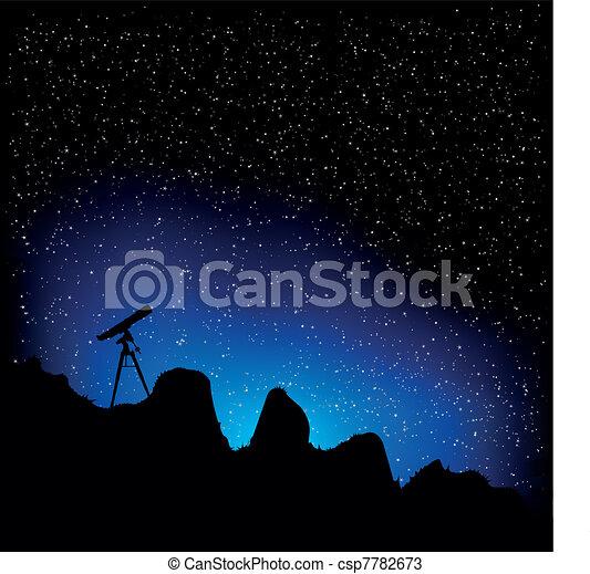 Telescopio y estrellas - csp7782673