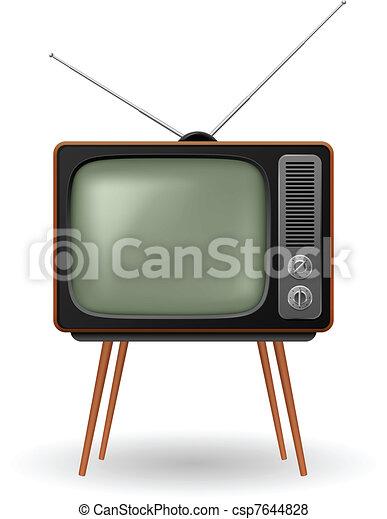 La vieja y antigua TV retro - csp7644828