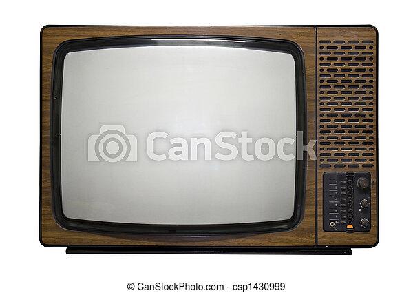 televisión, retro - csp1430999