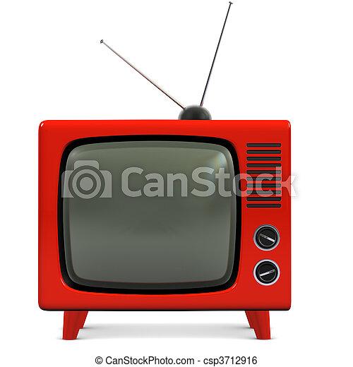Retro TV plástica - csp3712916