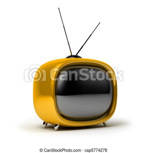 televisión, retro - csp5774278