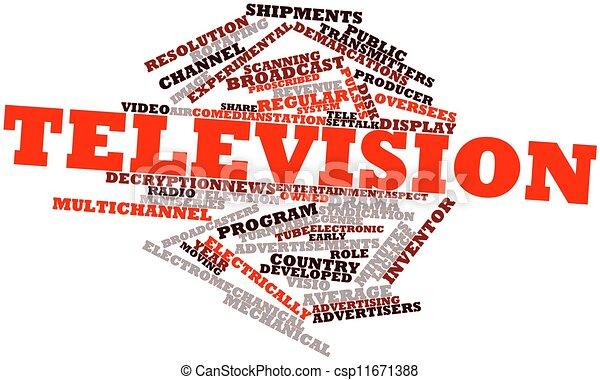 Televisión - csp11671388