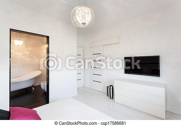 Casa de campo Vibrant, dormitorio con televisión - csp17586681