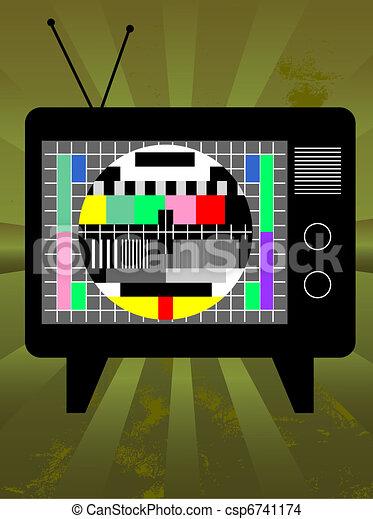 televisie, retro - csp6741174