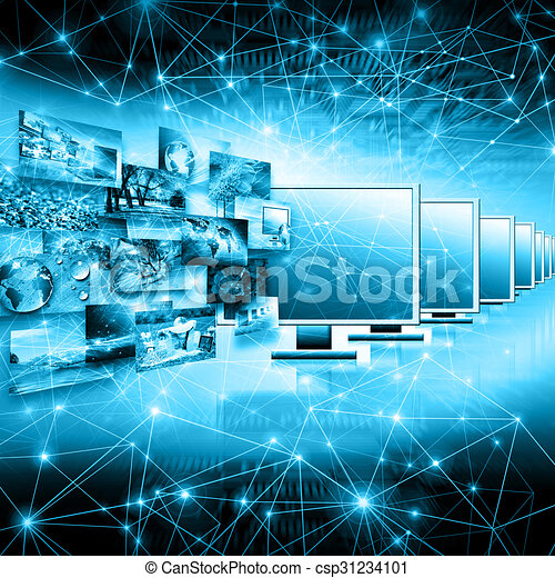 Television and internet production technology concept - csp31234101