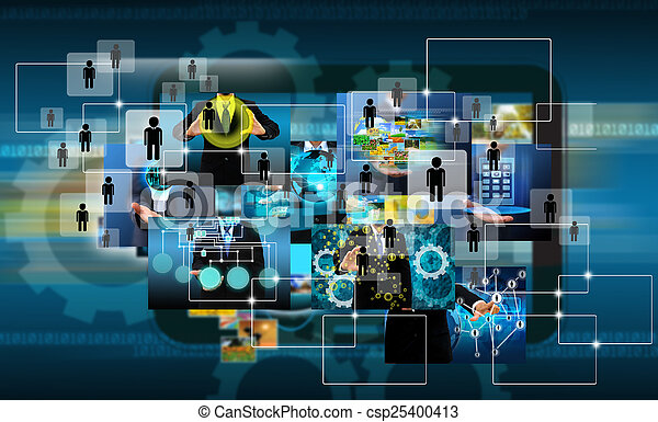 Television and internet production .technology and business conc - csp25400413