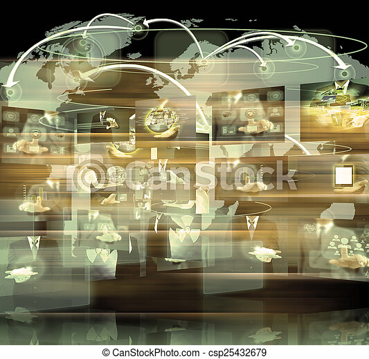 Television and internet production .technology and business conc - csp25432679
