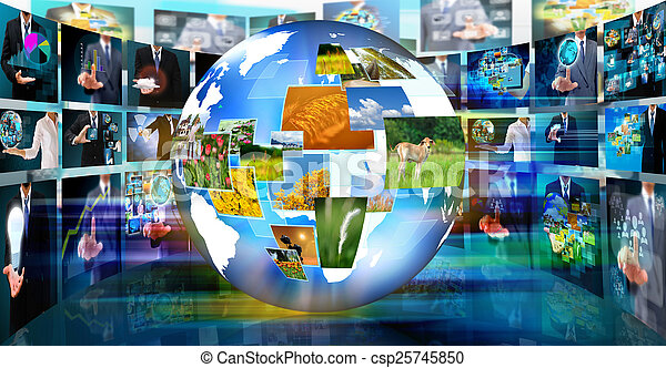 Television and internet production .technology and business conc - csp25745850