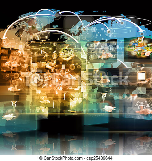 Television and internet production .technology and business conc - csp25439644