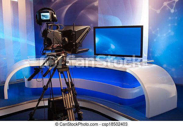 Television studio - csp18502403