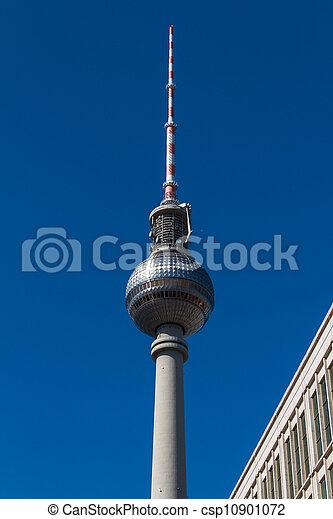 television tower in berlin mitte - csp10901072