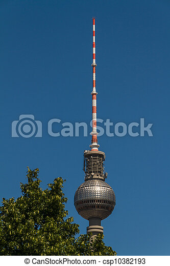 television tower in berlin mitte - csp10382193