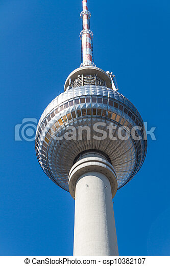 television tower in berlin mitte - csp10382107