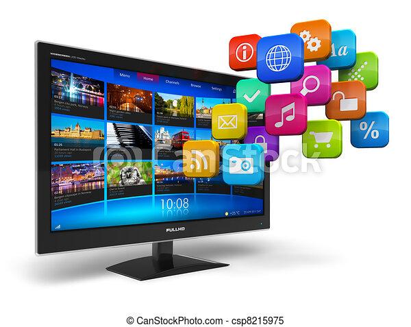 televisione, concetto, internet - csp8215975
