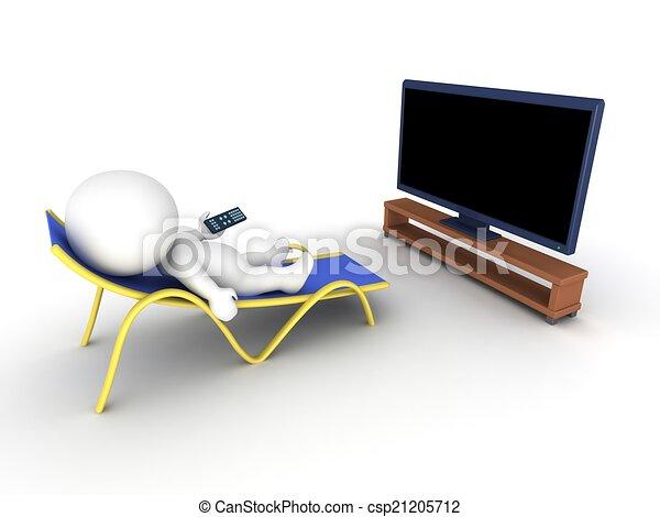 televize, voják, 3, povolit, dívaní - csp21205712