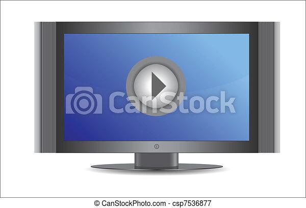 televize zastínit, dovádět, knoflík - csp7536877