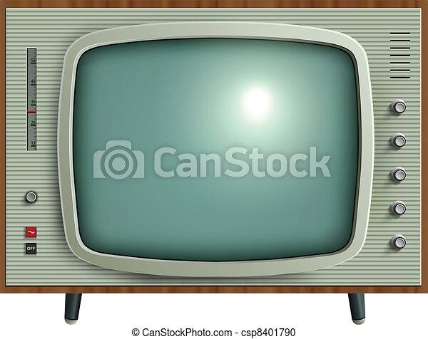 telewizja, retro - csp8401790