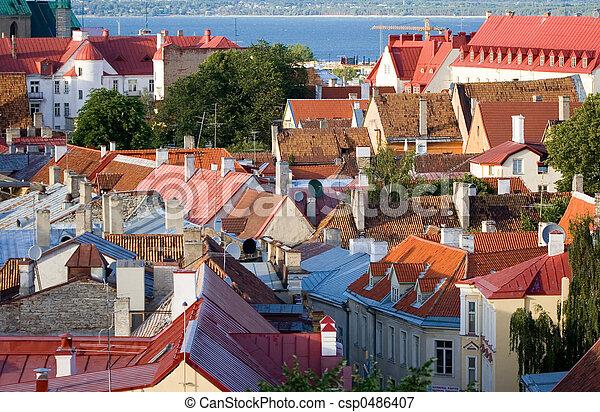 telhados, tallinn - csp0486407