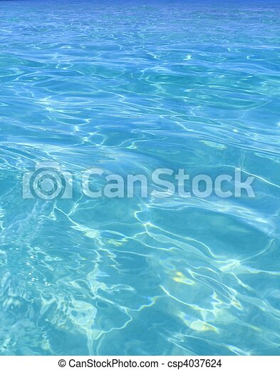 teljes, kék, türkiz, tropical víz, tengerpart - csp4037624