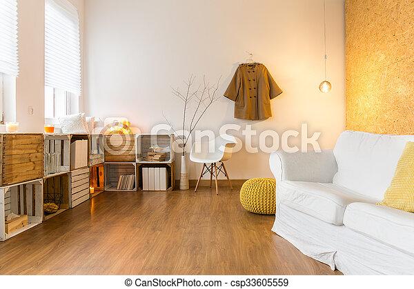 teljes, nappali, maradék, tágas, hideg, nap, kényelmes - csp33605559