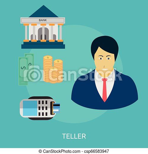 Teller Conceptual illustration Design - csp66583947