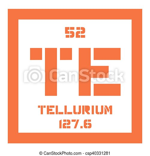 Tellurium Chemical Element Extremely Rare Element Colored Icon