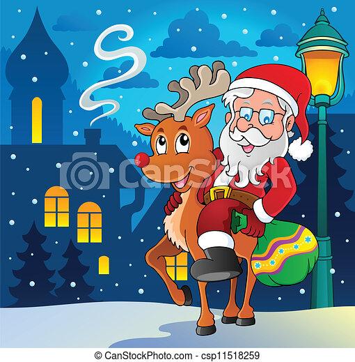Santa Claus imagen temática 8 - csp11518259