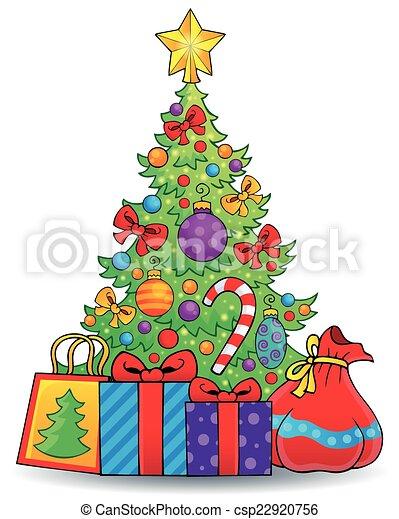 Tema del árbol de Navidad 6 - csp22920756