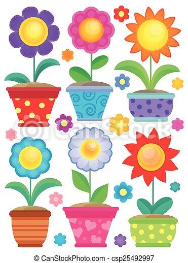 tema, 2, flor, cobrança - csp25492997