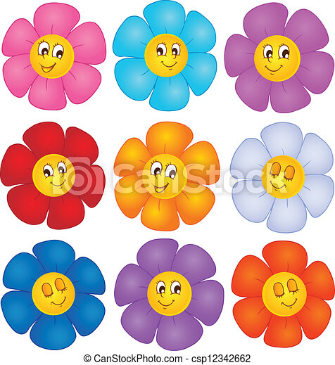 tema, blomst, image, 4 - csp12342662