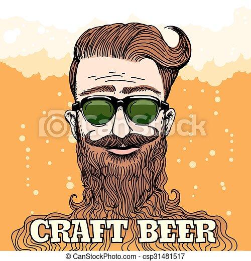 Tema de cerveza Hipster - csp31481517