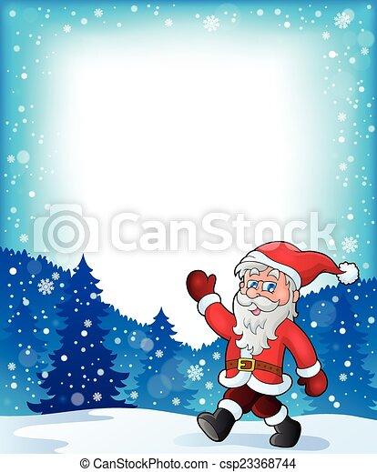 Santa Claus camina el tema 3 - csp23368744