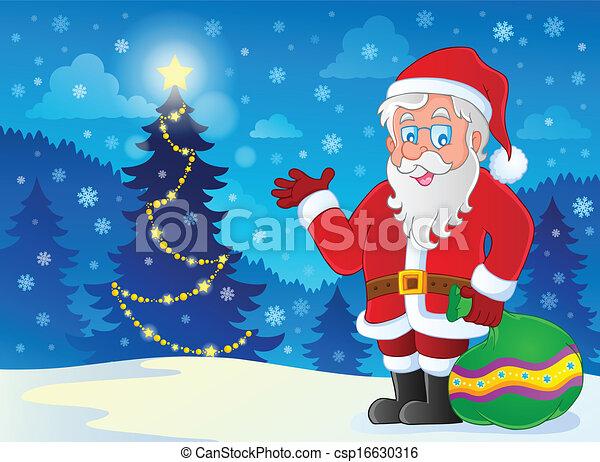 La imagen temática de Santa Claus 4 - csp16630316