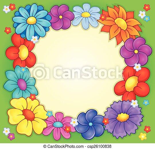 tema, cornice, 2, fiore - csp26100838