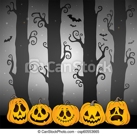 tema, dia das bruxas, floresta, imagem, 4 - csp60553665