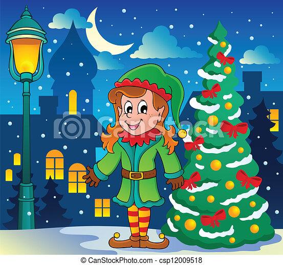 El tema de Navidad 6 - csp12009518