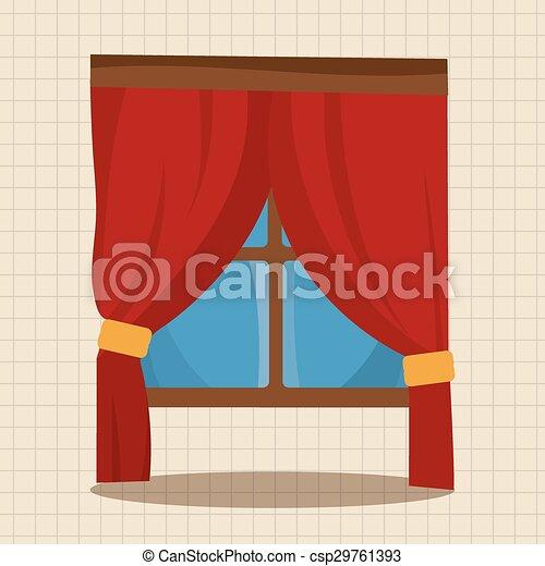 Vector de vidrio temático de los muebles - csp29761393