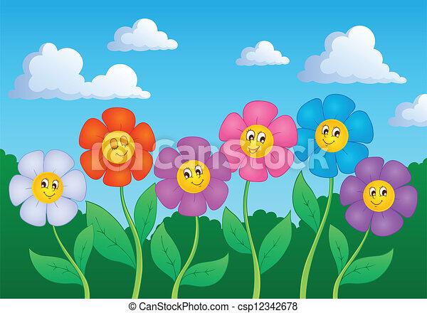 tema, flor, imagem, 6 - csp12342678