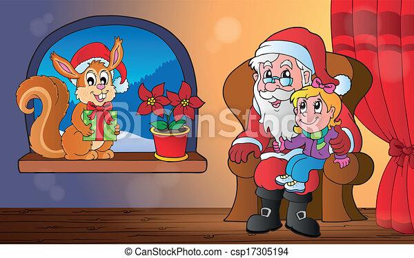 Tema de Navidad interior 5 - csp17305194