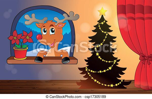 Tema de Navidad interior 4 - csp17305189