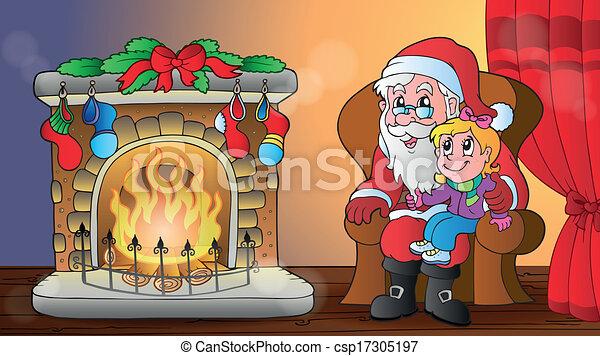 Tema de Navidad interior 6 - csp17305197