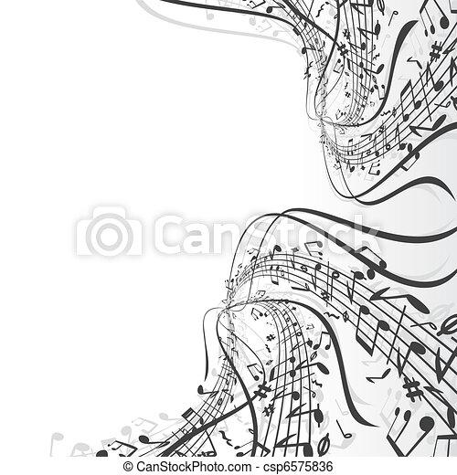 Tema musical - csp6575836