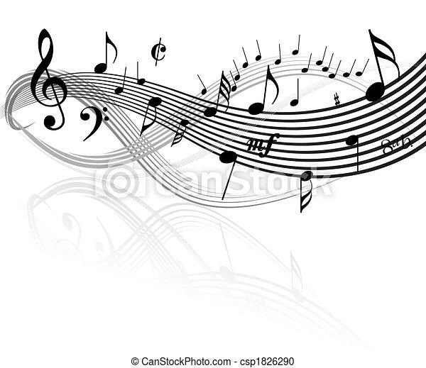 Tema musical - csp1826290