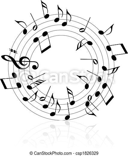 Tema musical - csp1826329